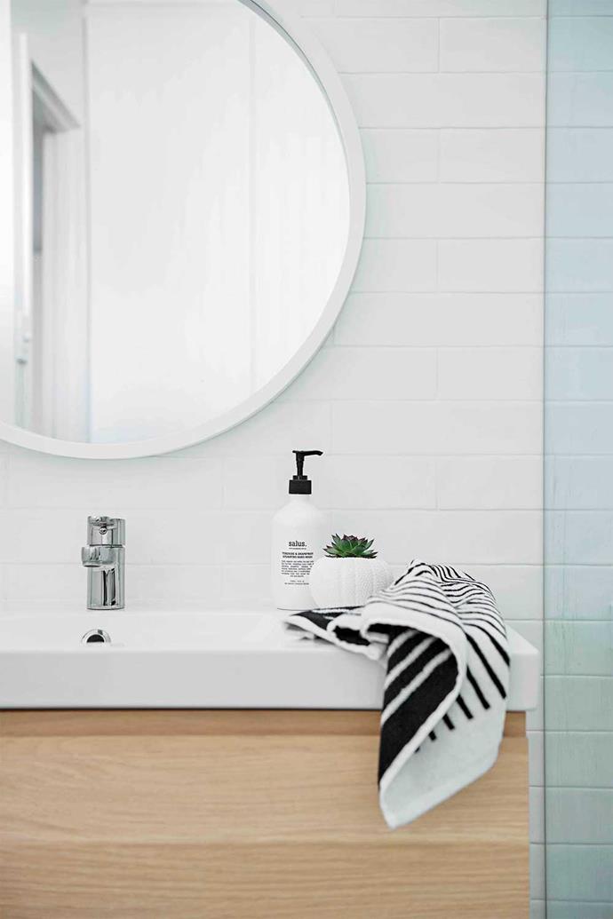 Ikea sink, mirror and vanity kept costs down