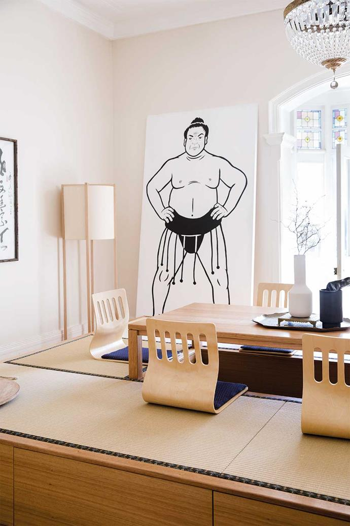 The tatami room is Adam's favourite space
