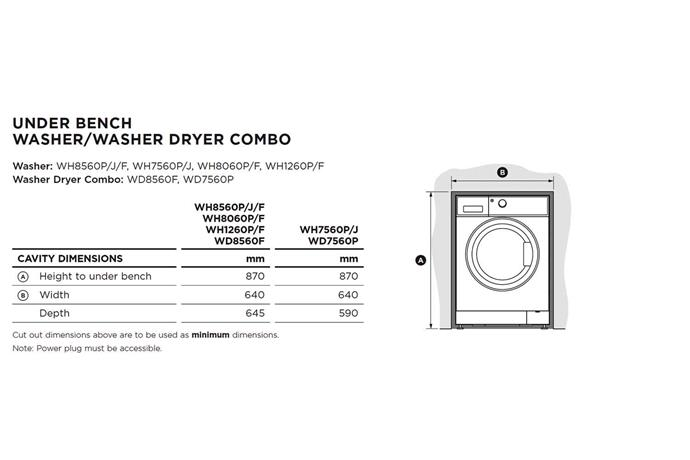 Cavity sizes required for installation | Fisher & Paykel