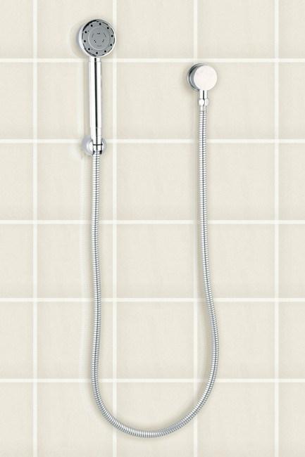 **Hand shower head**   Caroma Liano hand shower on wall bracket, from [Domayne](http://www.domayne.com.au/).