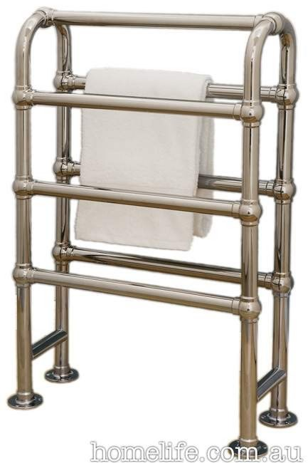 **Towel rails |** Hawthorn Hill towel warmer in nickel, from [The English Tapware Company](http://www.englishtapware.com.au/).  _Image courtesy of supplier_