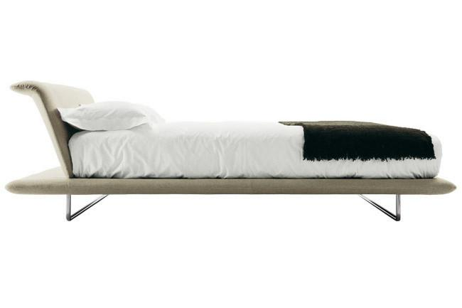 B&B Italia 'Siena' queen-size bed with inserted headboard by Naoto Fukasawa, from Space.