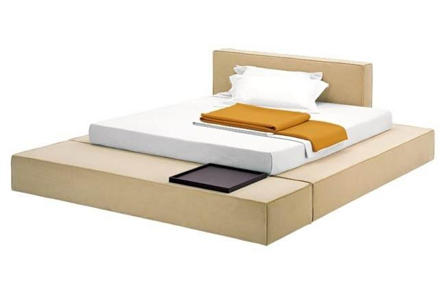 Zanotta 'Domino' by Emaf Progetti, from Space. A modular bed in numerous confi gurations, from the simple to total living environment.