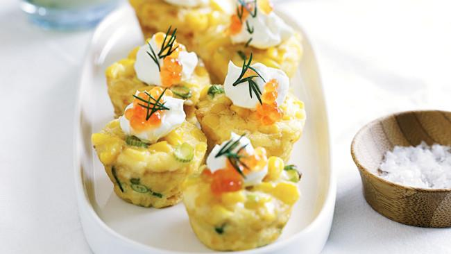 [**Corn frittatas**](http://www.homelife.com.au/recipes/entrees/corn-frittatas). Easy to make and perfect for freezing, these are delicious hot or cold.
