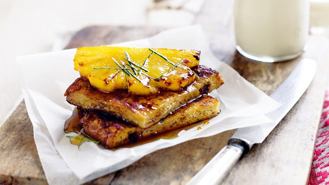 4\. Show your partner you're nuts for them with this [coconut French toast with caramelised pineapple](http://www.homelife.com.au/recipes/desserts/coconut-french-toast-with-caramelised-pineapple).