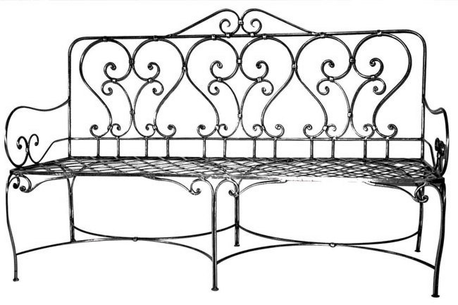**Create your own romantic garden |** For hand-crafted steel bench seats try [Le Forge](http://www.leforge.com.au).