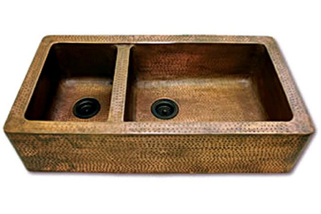 **Country kitchen** | Chateau handmade (to order only) copper kitchen sink, from [Manorhouse](http://www.manor.com.au/).