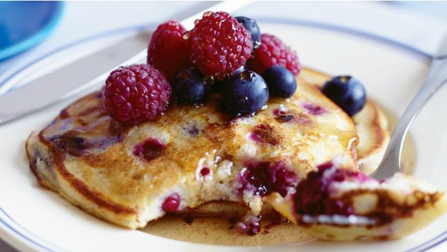 """Make these [mixed berry pancakes](http://www.homelife.com.au/recipes/desserts/mixed-berry-pancakes