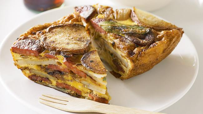 [**Chorizo and potato frittatas**](http://www.homelife.com.au/recipes/mains/chorizo-and-potato-frittata). This recipe is for one frittata, but simply bake the mix in muffin tins for individual serves.