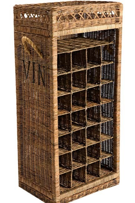 **Country kitchen** | Vintage-style rattan wine rack, from [Asset Furniture](http://www.sydneyfrenchfurniture.com.au/).