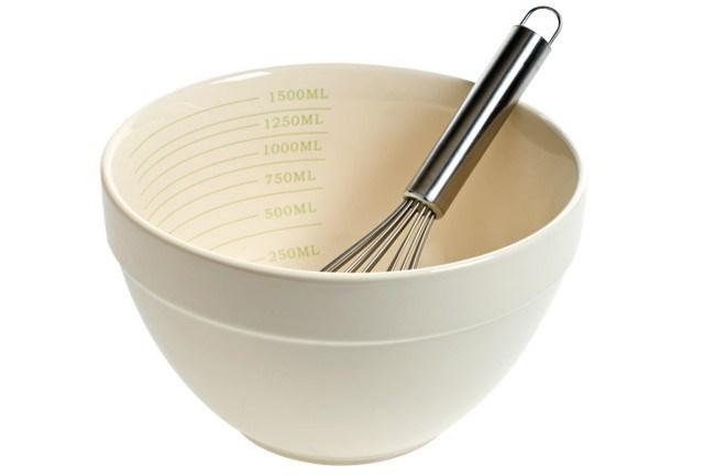 **Country kitchen** | '_Mix and Measure_' bowl, from [Robert Gordon Australia](http://www.robertgordonaustralia.com/). Mixer, stylist's own.