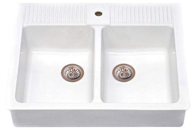 **Country kitchen** | '_Domsjo_' double bowl sink, from [IKEA](http://www.ikea.com/au/en/preindex.html).
