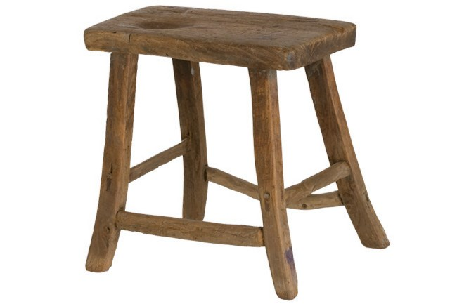French elm stool, from [Sally Beresford Antiques](http://www.sallyberesford.com.au/).