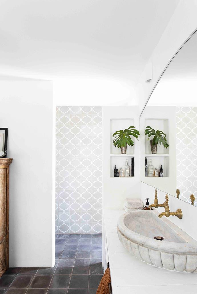 In keeping with the rest of the renovation, the aim for the bathroom was to create a space that felt rustic and established rather than shiny and new.