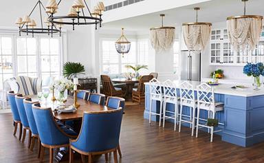 A grand Hamptons-inspired farmhouse