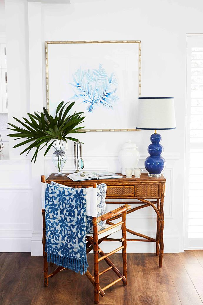 """""""Hamptons isn't just one look, its very layered and eclectic, but all the elements need to talk to one another,"""" says the owner of her decorating."""