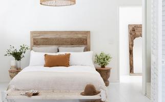 Coastal boho bedroom