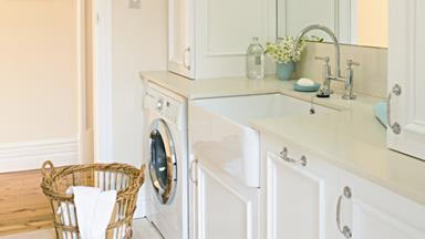 Laundry makeover: practical and pretty