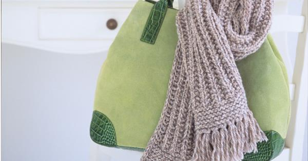 How To Knit A Ribbed Scarf Homelife