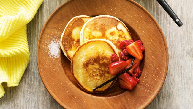 [Hotcakes with mixed berries and maple syrup](http://www.homelife.com.au/recipes/desserts/hotcakes-with-vanilla-mixed-berries-and-maple-syrup) is the pick-me-up breakfast you never knew you needed. Simply whip up the batter the night before and leave to rest in the fridge.