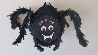 How to make a Halloween Black Spider Piñata