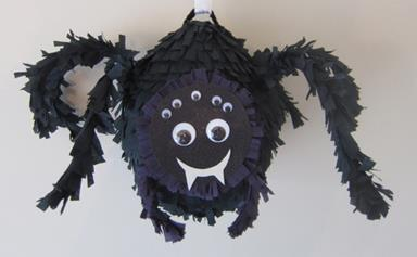 How to make a Halloween Black Spider Piñata