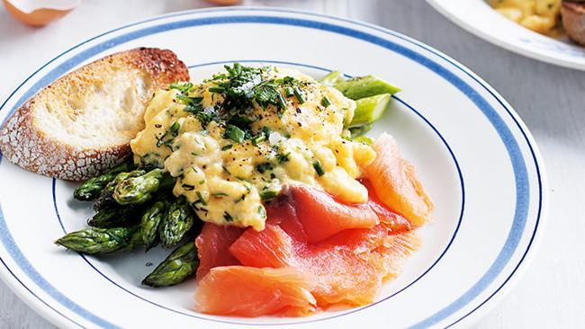 9\. And finally, [soft scrambled eggs with smoked salmon](http://www.homelife.com.au/recipes/mains/herby-scrambled-eggs-on-char-grilled-asparagus). Because taking ten minutes to slowly scramble eggs is the ultimate act of love.