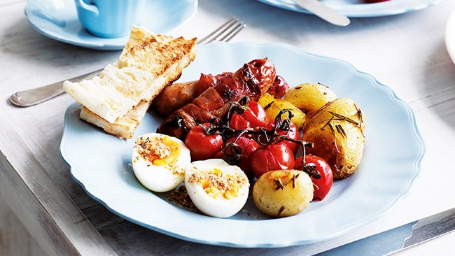 Tuck into a hearty [breakfast mezze plate](http://www.homelife.com.au/recipes/entrees/breakfast-mezze-plate?ad_ref=%2Frecipes%2Fcollections%2Fbreakfastrecipes%2Fbreakfastrecipes). An Australian morning with a Mediterranean touch.