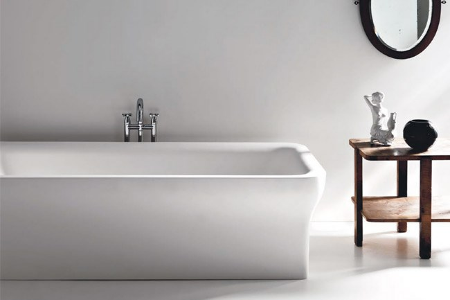 **Baths** | Taking it's elegance from 20th-century bathtubs, the 'Novecento' range for Italian firm Agape brings a classic-yet-contemporary appeal to the bathroom. While this softly rounded tub gently envelops you, the bath's clean lines and sharp elegance bring it up to date. For extra functionality, this bath can also be fitted with a polished stainless-steel towel rail. Available from [Artedomus](http://www.artedomus.com).