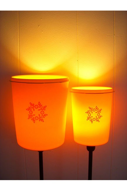 Upcycled recycled tupperware 'Tupperlight' - set of 2 by BootsNGus.[      ](http://www.etsy.com/listing/67765269/upcycled-recycled-tupperware-tupperlight?ref=cat2_gallery_1)