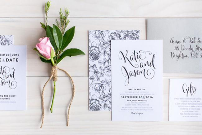 Create an invitation that reflects who you are and gets guests excited about your event. Image from [The Print Fairy](http://theprintfairy.com/)