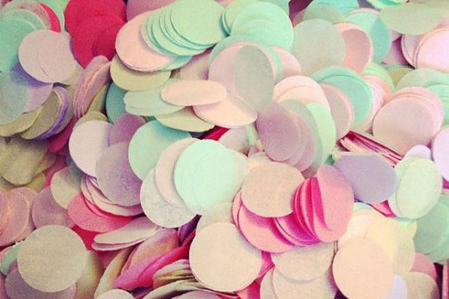 9\. Tissue paper confetti – guaranteed to be light and floaty when falling to the ground. Image from [Pom Love](https://www.etsy.com/au/listing/129238539/tissue-paper-confetti-wedding?ref=shop_home_active_1).