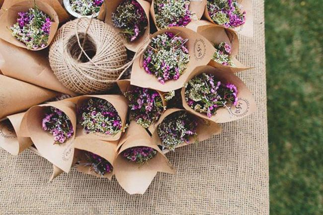 1\. Seasonal sprigs in the wedding's theme colours – perfect for a garden wedding. Photo from [Willow and Dune](http://willowanddune.com.au/).