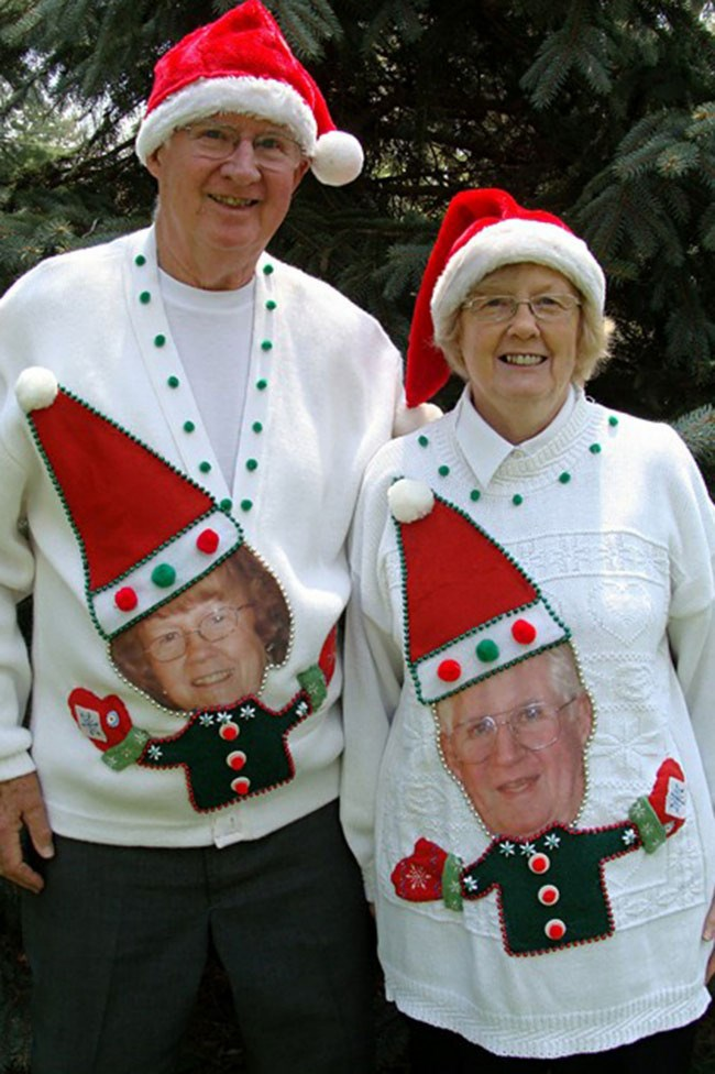 A marriage made in heaven! We couldn't love these two more. _Image from [Rock Your Ugly Christmas Sweater](http://rockyouruglychristmassweater.com/)_