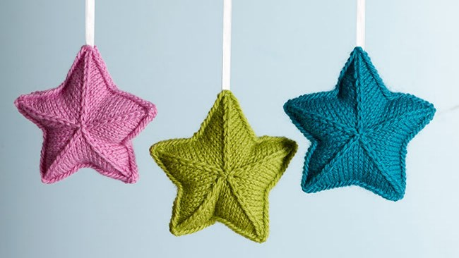 This sweet little knitted stars will brighten up your window over the cold months. [Make a knitted star ornament.](http://www.homelife.com.au/craft-diy/knitting-sewing/how-to-knit-star-ornaments)
