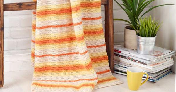 Crochet Throw Pattern From Moda Vera Wool Homelife