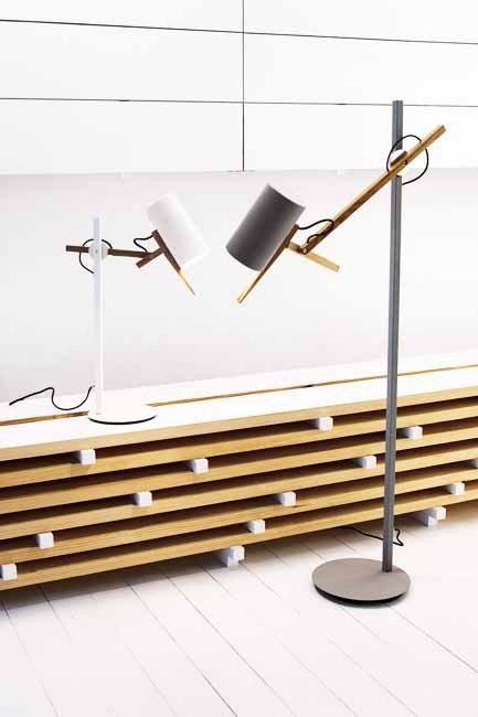 **Futuristic forms**  All lanky legs and pivoting heads – were a strong trend in lighting. Mathias Hahn's 'Scantling' lights are now in production with [Marset](http://www.marset.com).  Words: David Harrison | Photo: David Harrison