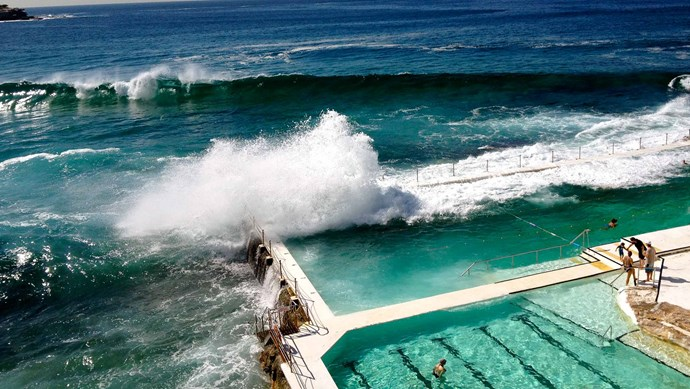 Iceberg's pool, Bondi Beach, Australia. A landmark for over 100 years, this ocean pool is open to the public and has a separate pool for kids.