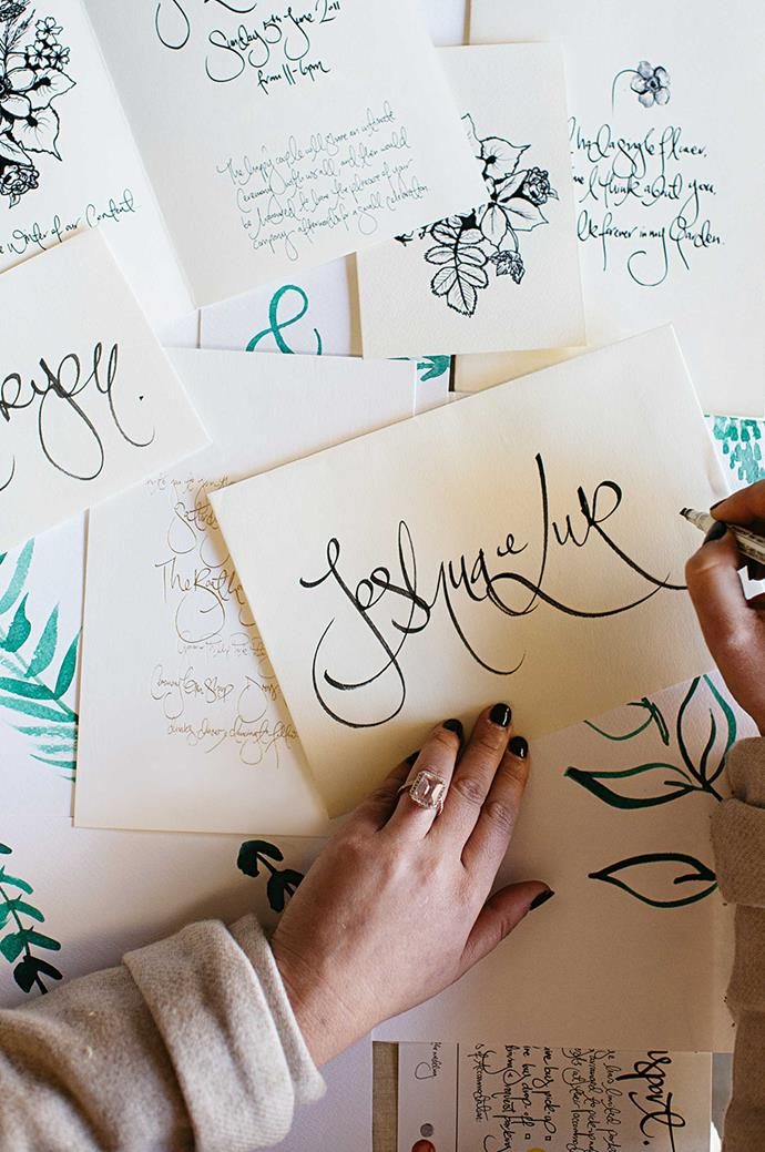 """I don't try and do other types of typography,"" Aleksandra says of her distinctive handwriting."