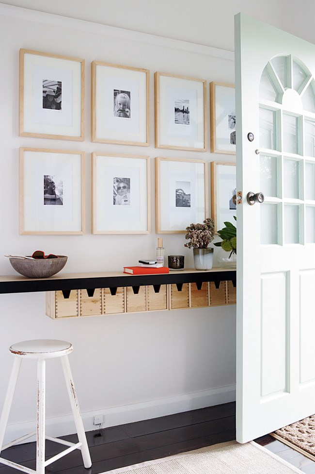 4. Picture frames. These framed prints give the space a personal touch while maintaining a clean and streamlined feel.   Photo: Sam McAdam-Cooper