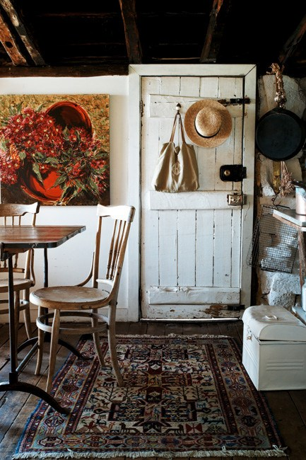 The rustic kitchen and dining room. | Photo: Jared Fowler