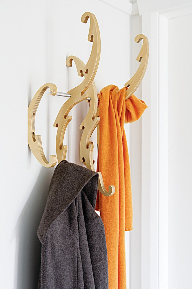3. Wall hooks. Hooks are ideal for hanging coats, scarves, bags and umbrellas.   Photo: Sam McAdam-Cooper