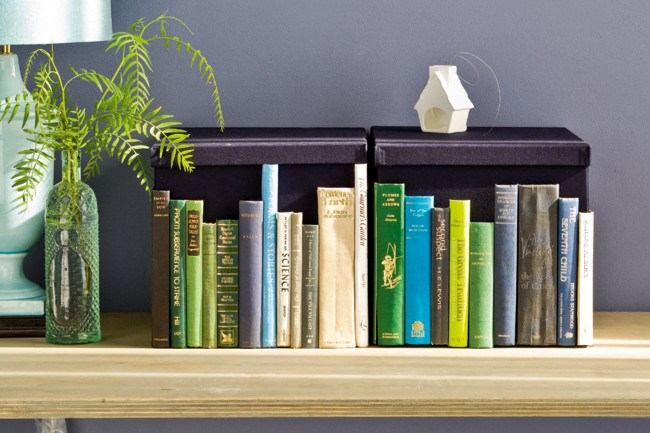 Decorate your home with these six easy DIY projects.      Create an instant '[bookcase](http://www.homelife.com.au/home+ideas/home+help/how+to+make+a+faux+bookshelf+from+old+book+spines,6335)' with this clever and crafty take on camouflaged storage boxes.