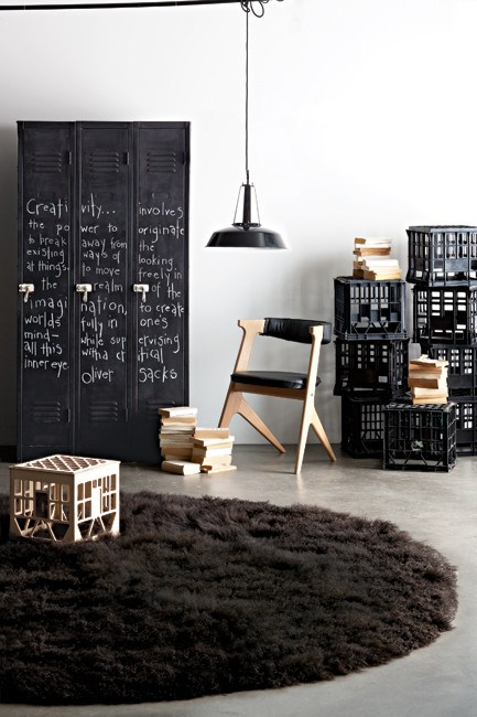 Make a [blackboard cupboard](http://www.homelife.com.au/home+ideas/decorating/make+a+blackboard+cupboard,14061). Chalk creativity up to lateral thinking and blackboard paint.