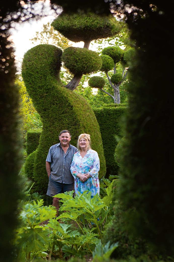 Garden owners Barry and Ruth Murphy.