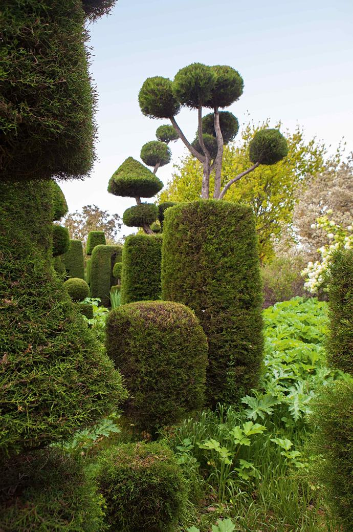 Though striking, the topiary section is just a small part of the garden.