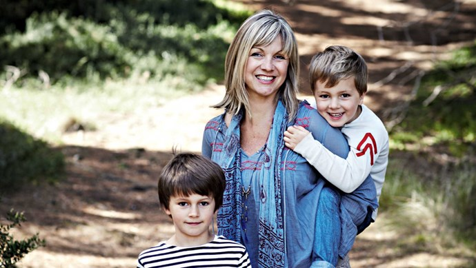 Amber Phillips with her two sons; Luca, six, and four-year-old Arki. | Photo: Sharyn Cairns