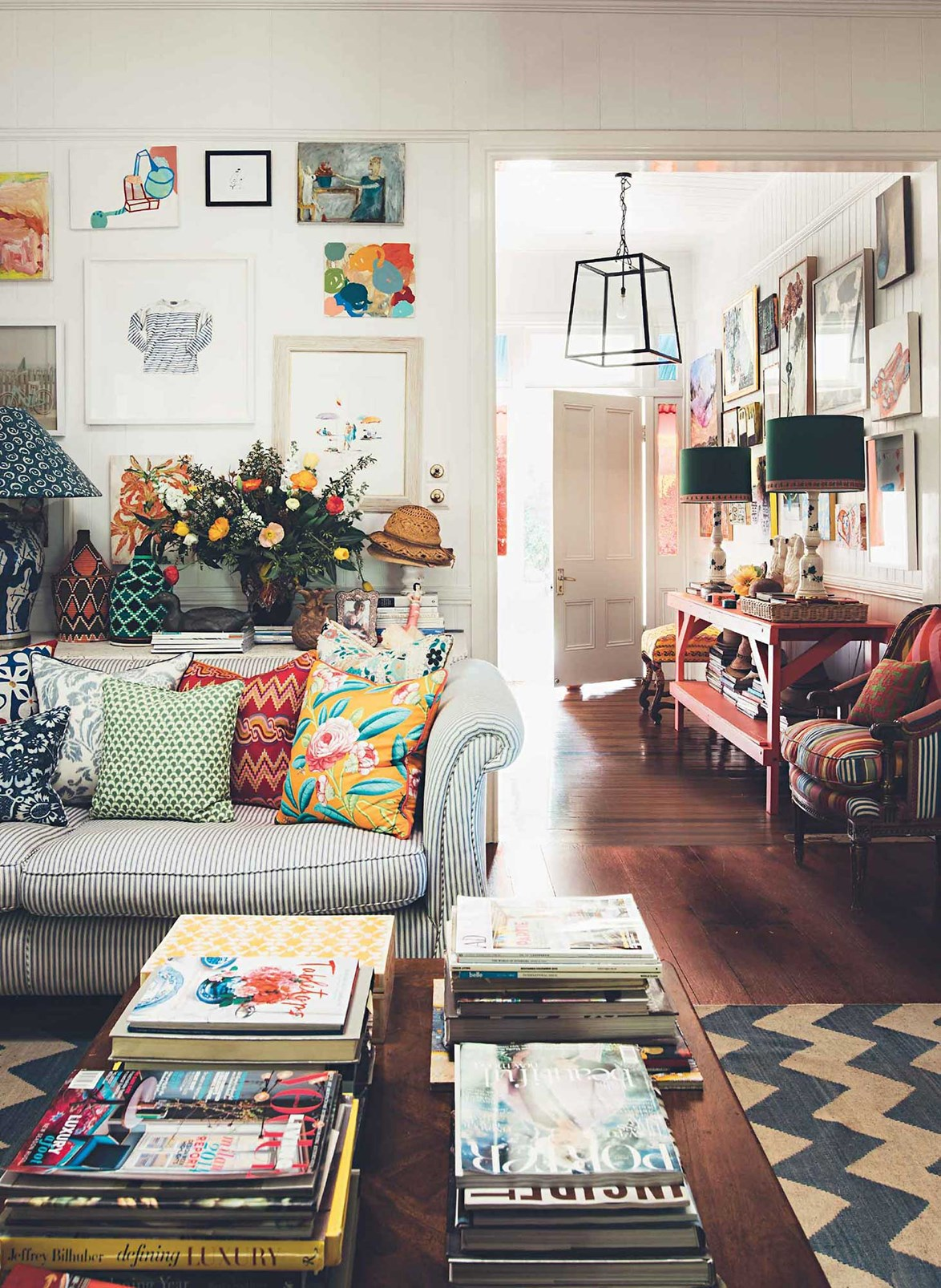 """Not everyone has the luxury of installing patterned tiles, or painting the walls exuberant colours – and many will have to find a way to inject colour into their home using accessories only. Interior designer [Anna Spiro](https://www.homestolove.com.au/anna-spiro-interior-designers-colourful-brisbane-home-13660