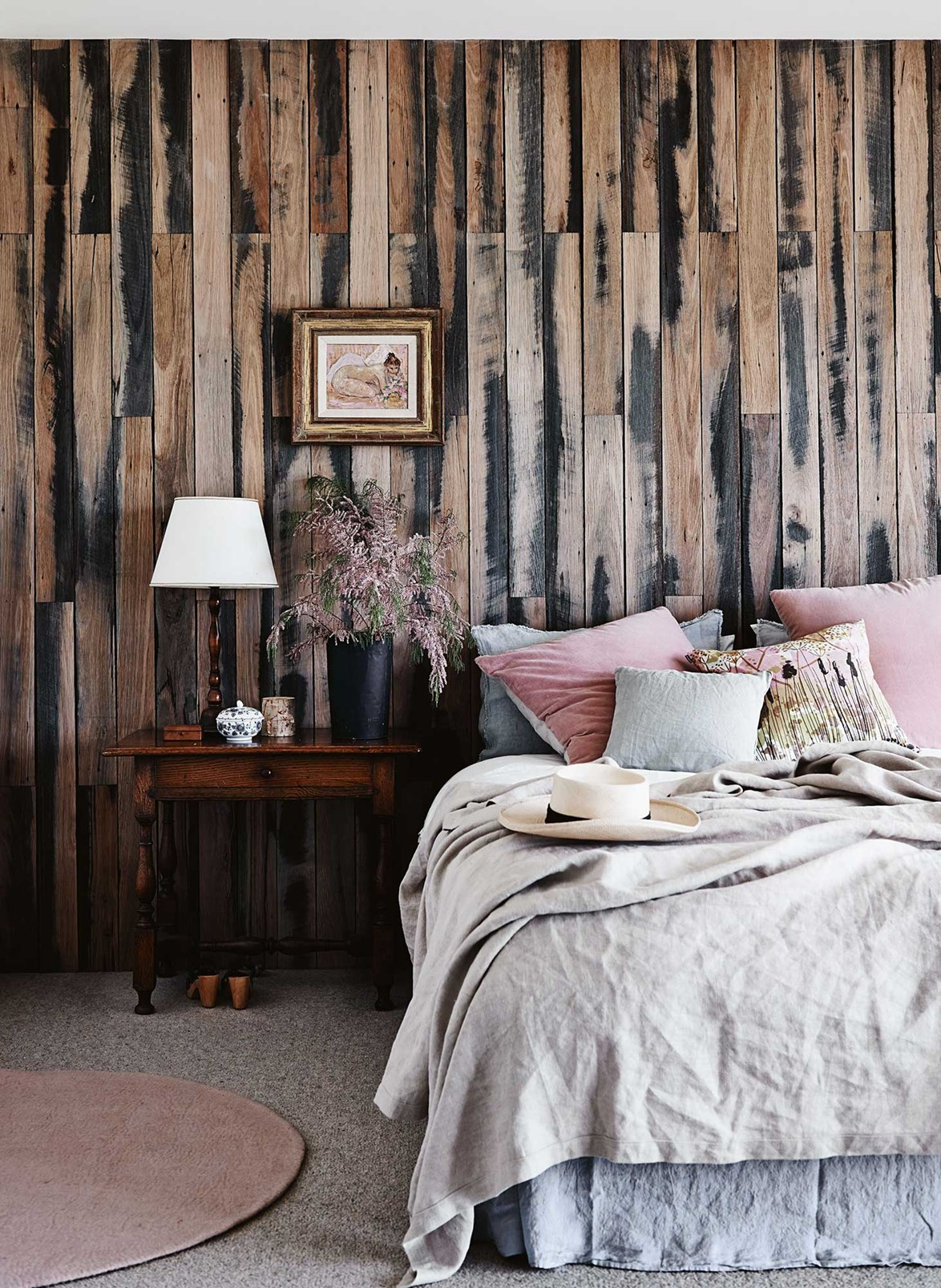 """In the master bedroom of this [newly-built home in Freshwater Creek](https://www.homestolove.com.au/designer-dream-home-in-freshwater-creek-victoria-13657