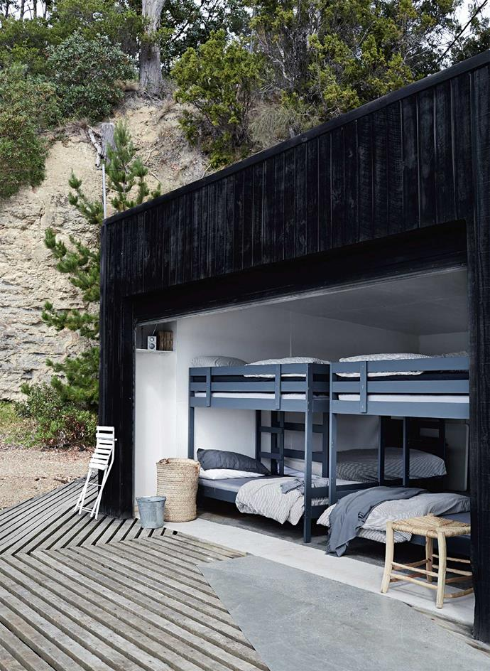 A boathouse tranformed into a bedroom has helped make Summer House the guest accommodation dreams are made of. Leave the door open at night to hear the waves lapping at the edges of your dreams.